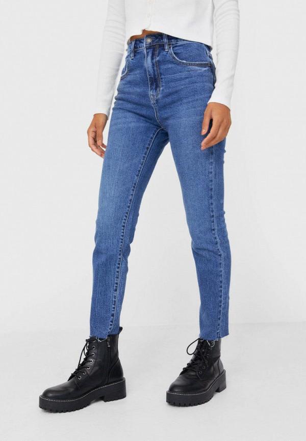 женские джинсы скинни stradivarius, синие