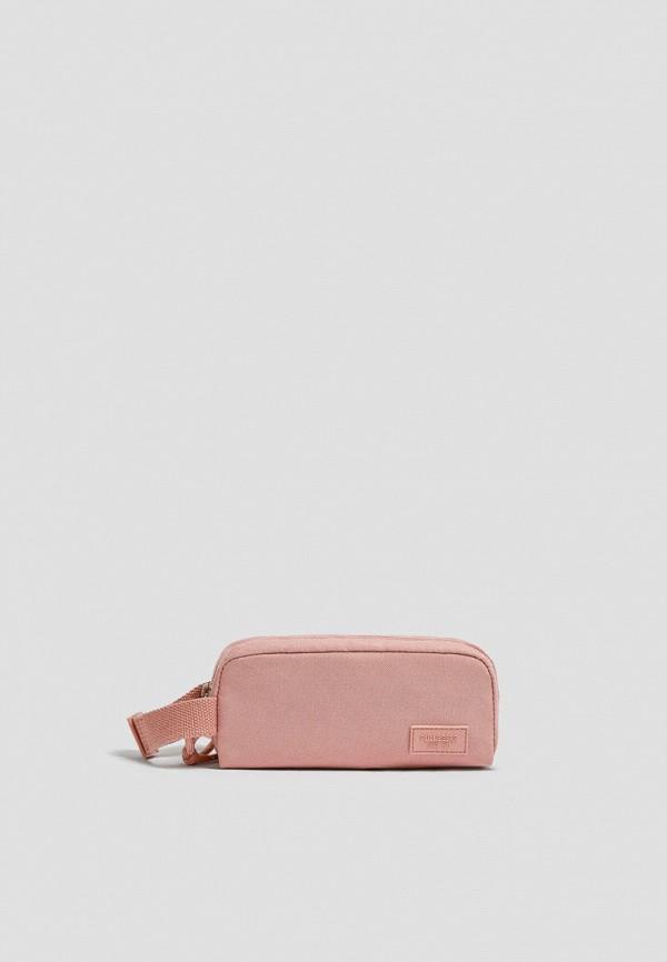женская косметичка pull & bear, розовая