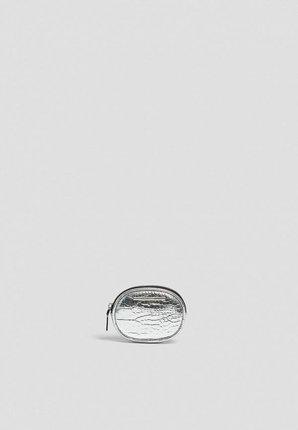 женский кошелёк pull & bear, серебряный