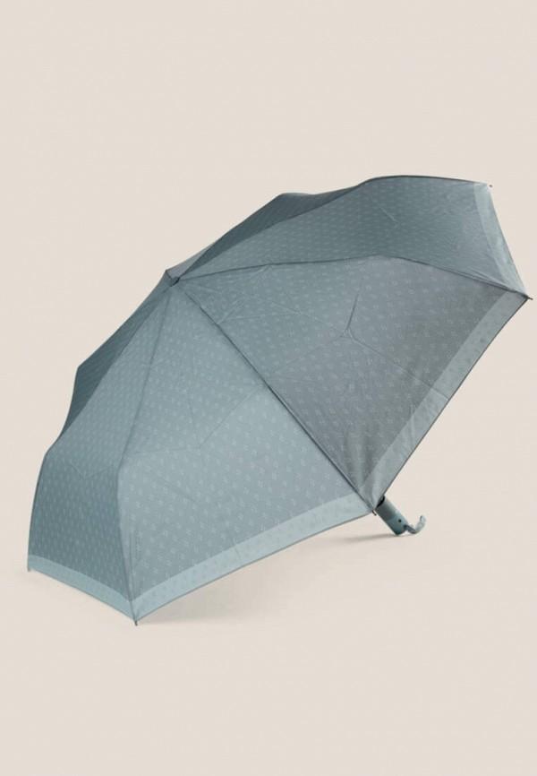 женский складные зонт oysho, бирюзовый