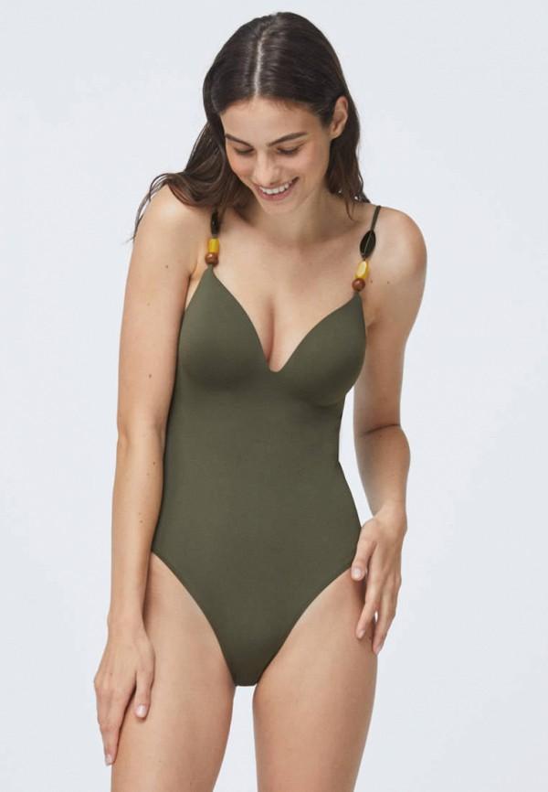женский купальник oysho, хаки