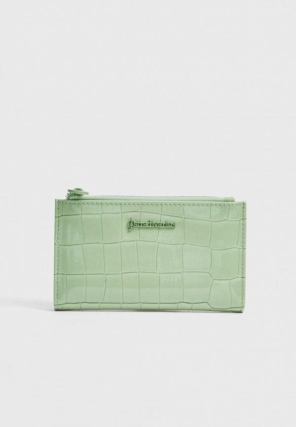 женский кошелёк stradivarius, зеленый