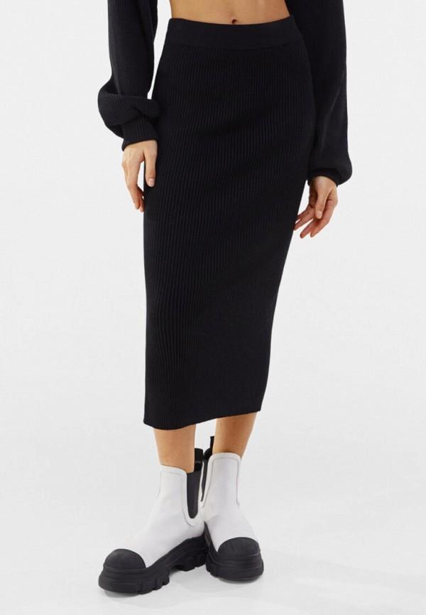 женская узкие юбка bershka, черная