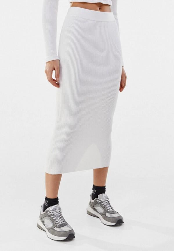 женская узкие юбка bershka, белая