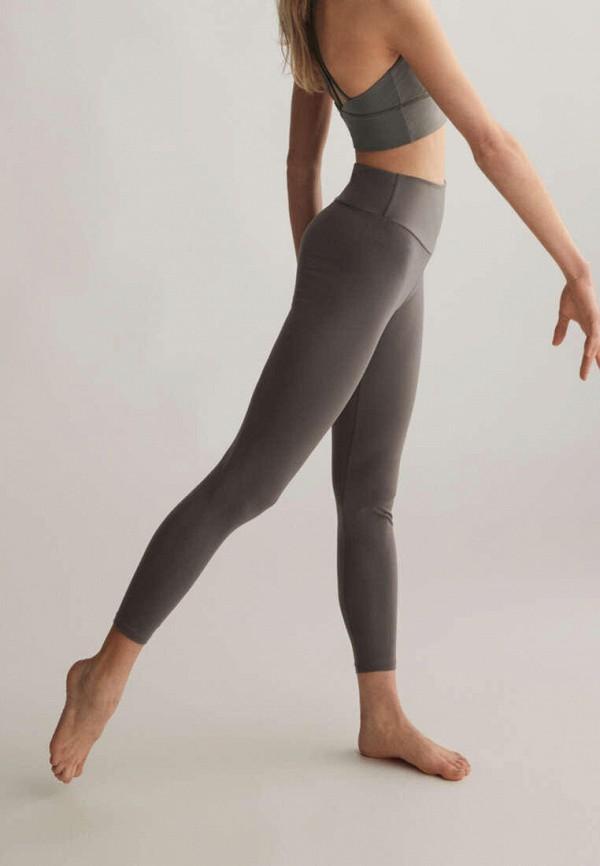 женские спортивные леггинсы oysho, серые