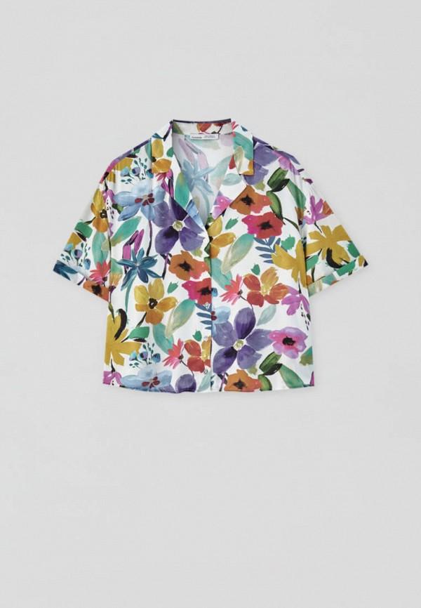 женская блузка с коротким рукавом pull & bear, разноцветная