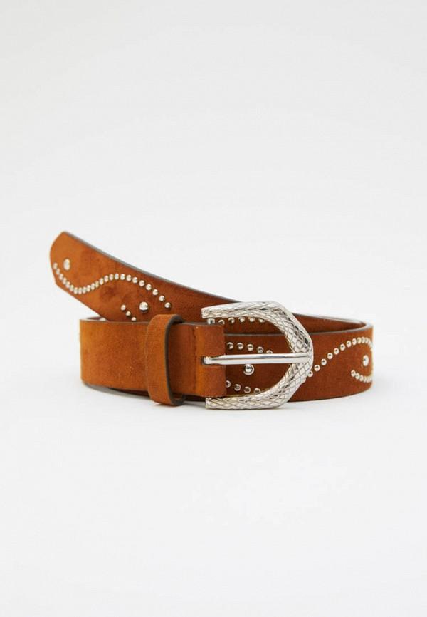 женский ремень pull & bear, коричневый
