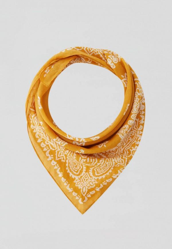 женский платок pull & bear, желтый