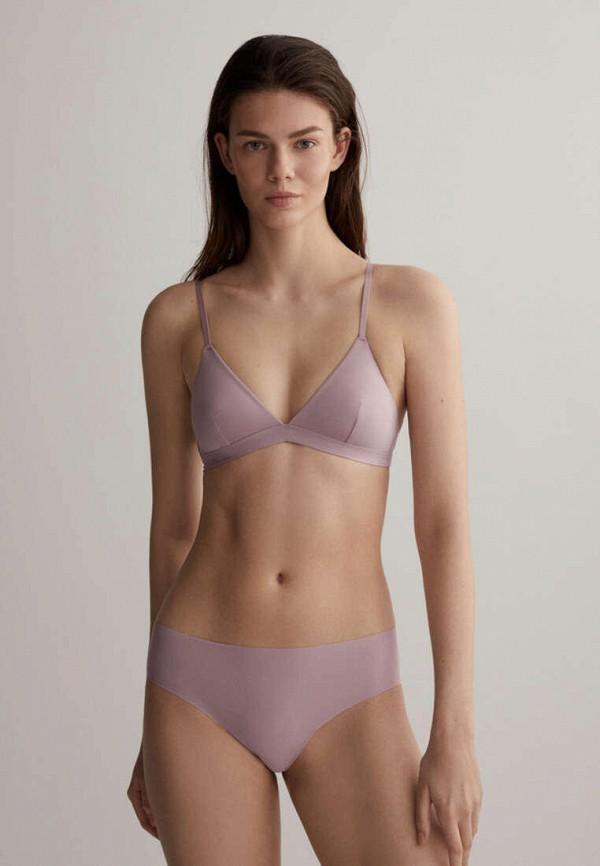 женский бюстгальтер без косточек oysho, фиолетовый