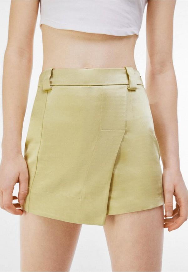женская юбка bershka, желтая