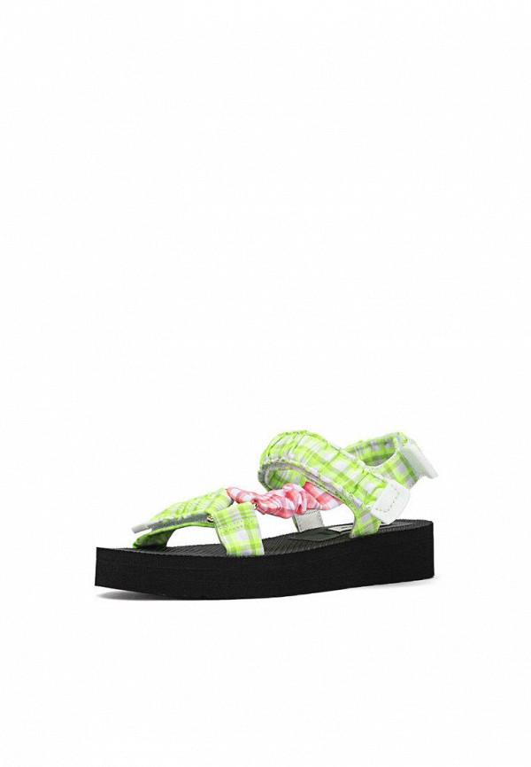 женские сандалии stradivarius, зеленые