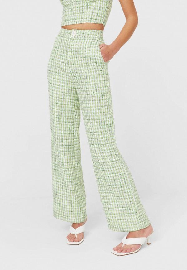 женские повседневные брюки stradivarius, зеленые
