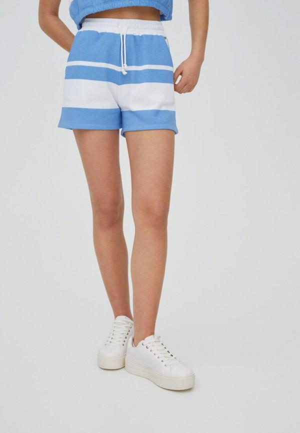 женские повседневные шорты pull & bear, синие