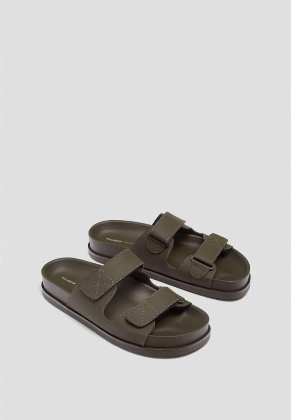 женские сандалии pull & bear, хаки