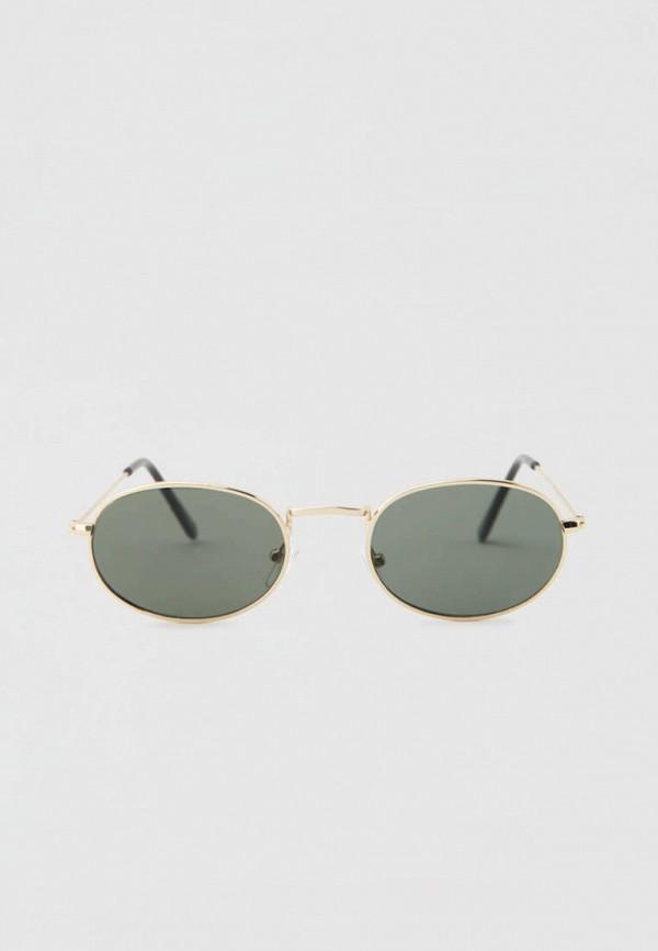 женские круглые солнцезащитные очки pull & bear, золотые