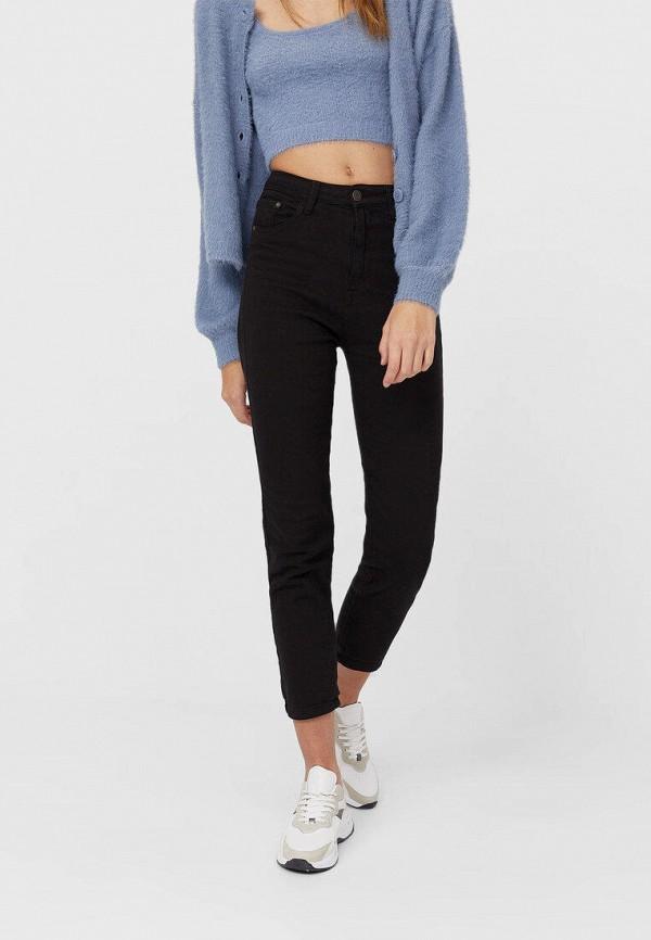 женские джинсы скинни stradivarius, черные
