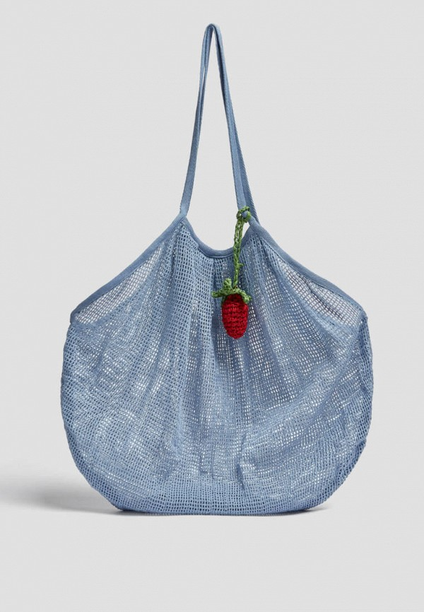 женская сумка-шоперы pull & bear, голубая
