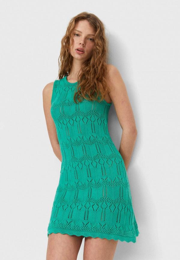 женское повседневные платье stradivarius, зеленое