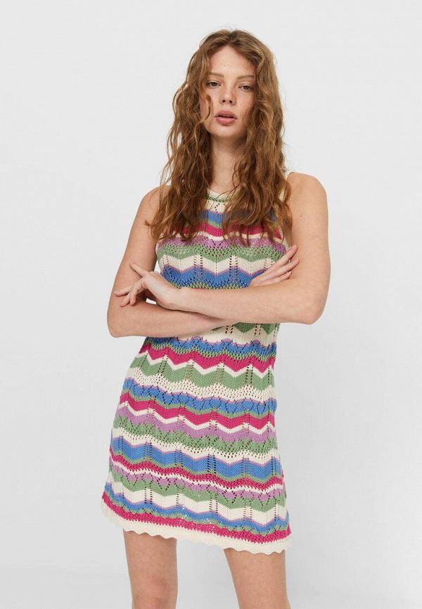 женское повседневные платье stradivarius, разноцветное