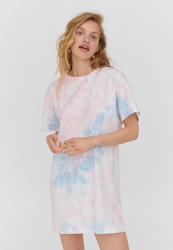 женское платье-футболки pull & bear, разноцветное