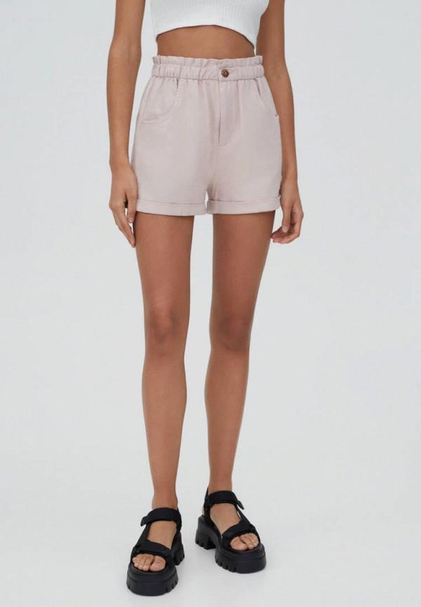 женские повседневные шорты pull & bear, розовые