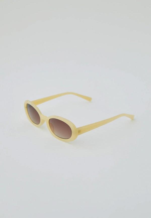 женские круглые солнцезащитные очки pull & bear, желтые