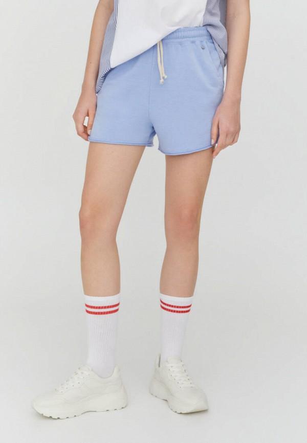 женские спортивные шорты pull & bear, голубые
