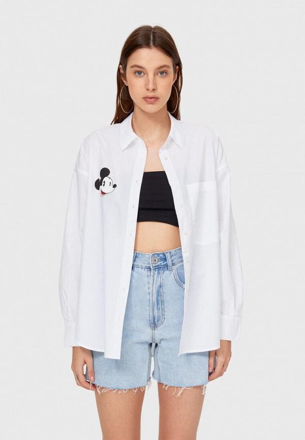 женская рубашка с длинным рукавом stradivarius, белая