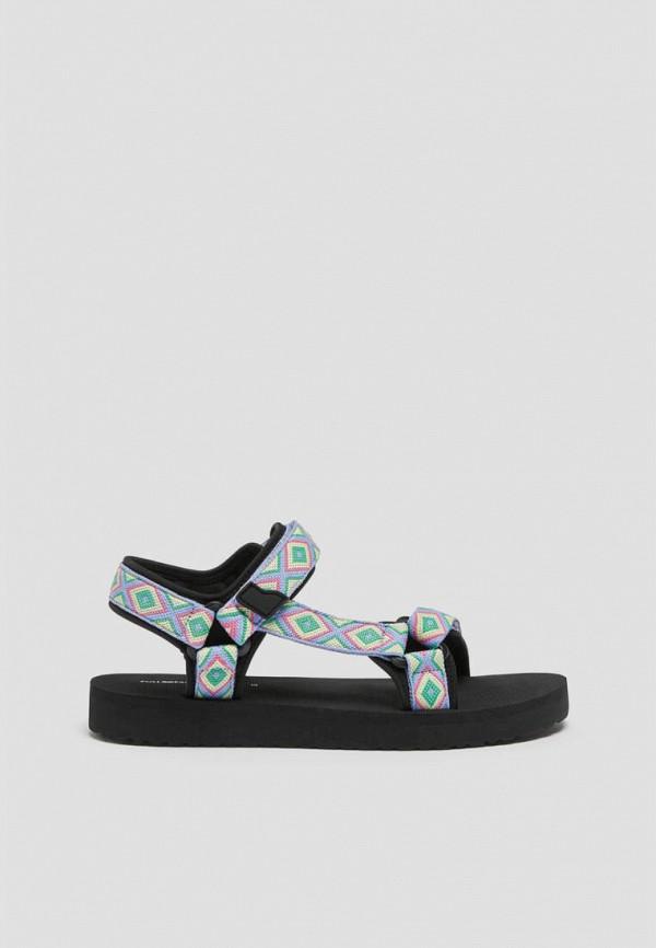 женские сандалии pull & bear, голубые