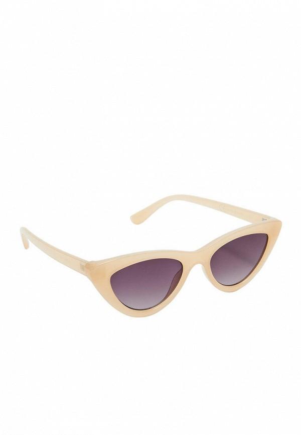 женские солнцезащитные очки кошачьи глаза stradivarius, желтые