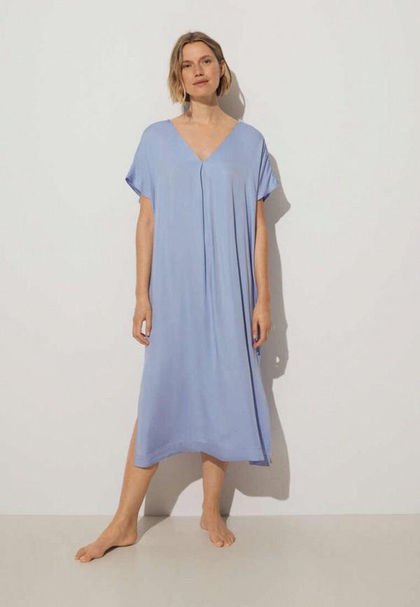 Платье пляжное Oysho. Цвет: голубой