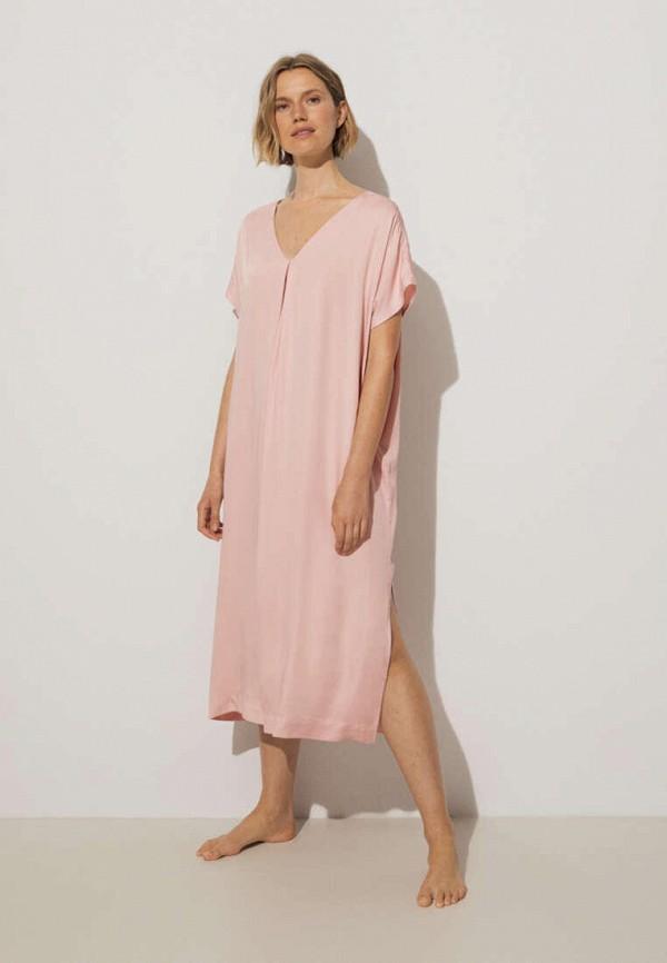 Платье пляжное Oysho. Цвет: розовый