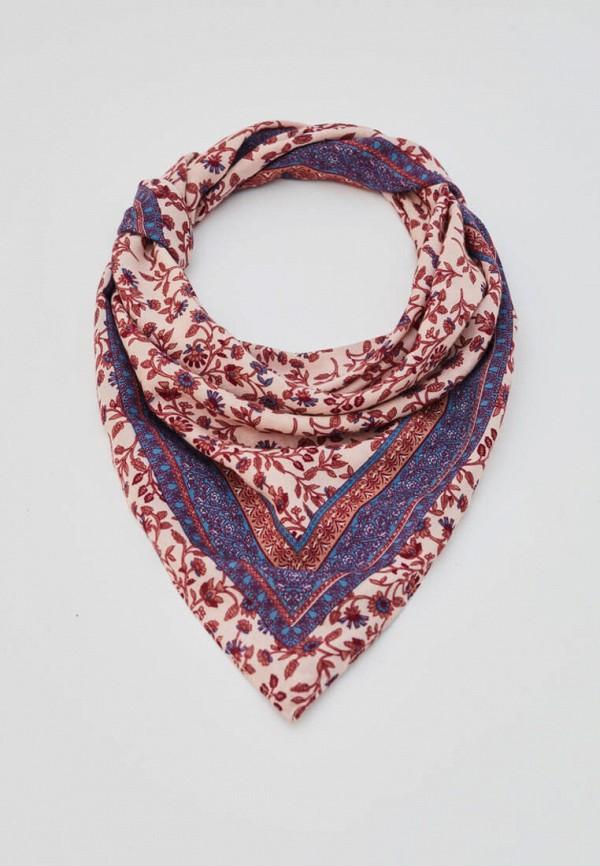 женский платок pull & bear, розовый