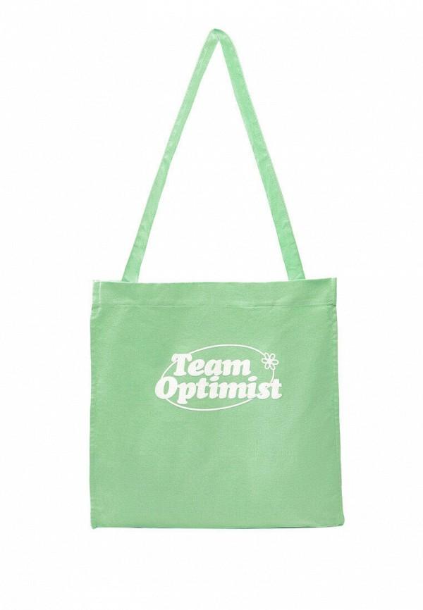 женская сумка-шоперы stradivarius, зеленая