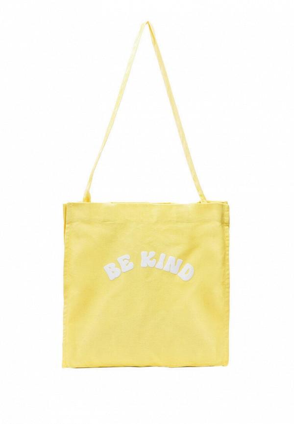 женская сумка-шоперы stradivarius, желтая