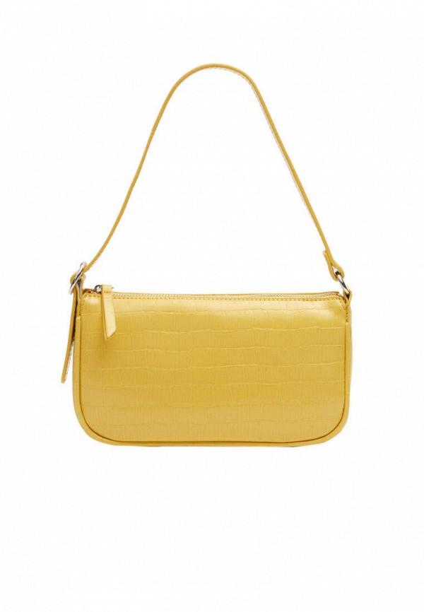 женская сумка с ручками stradivarius, желтая
