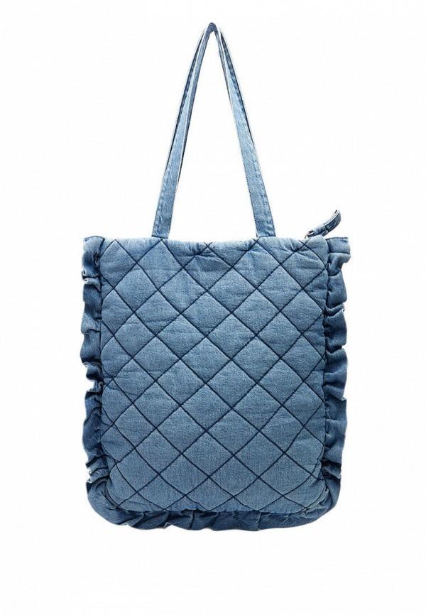 женская сумка-шоперы stradivarius, синяя
