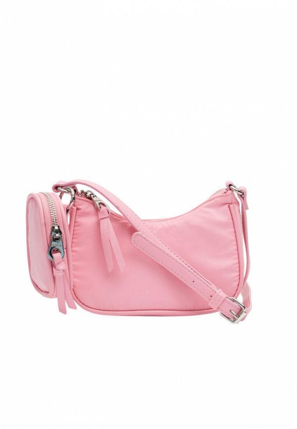 женский кошелёк через плечо stradivarius, розовый
