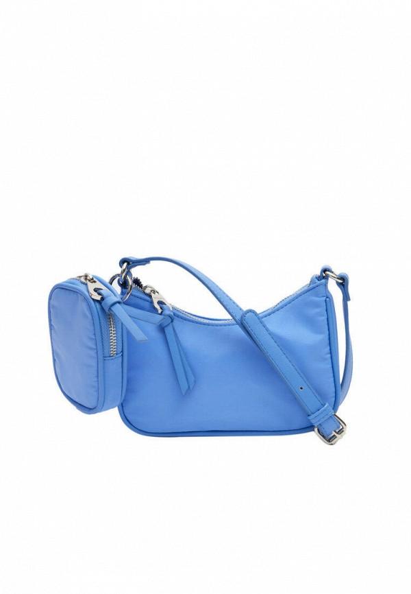 женский кошелёк через плечо stradivarius, голубой