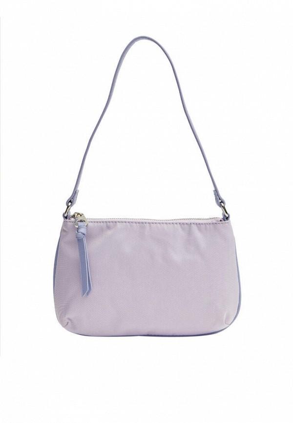 женская сумка с ручками stradivarius, фиолетовая