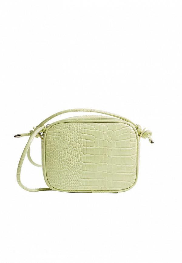 женская сумка через плечо stradivarius, зеленая