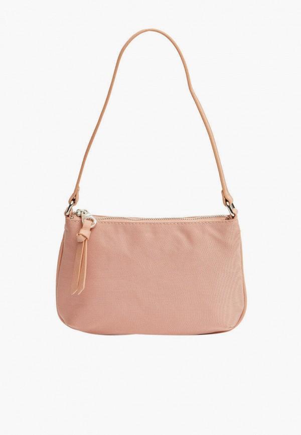 женская сумка с ручками stradivarius, розовая