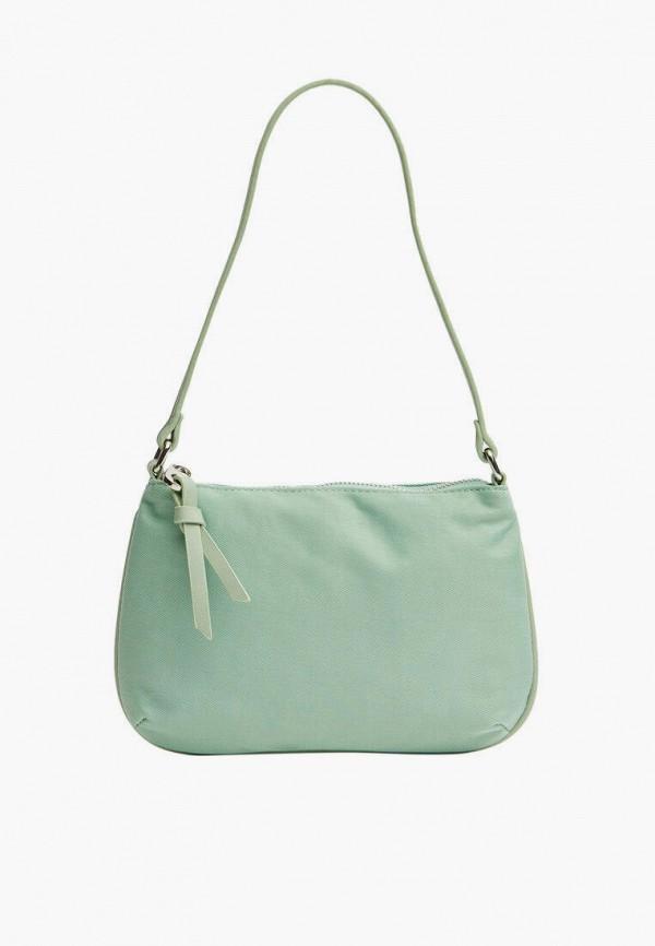 женская сумка с ручками stradivarius, зеленая