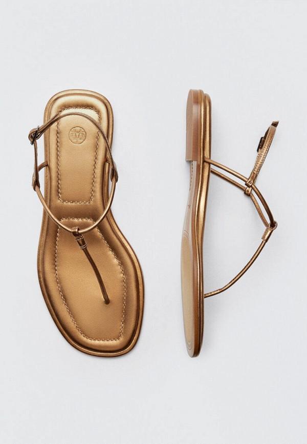 женские сандалии massimo dutti, золотые