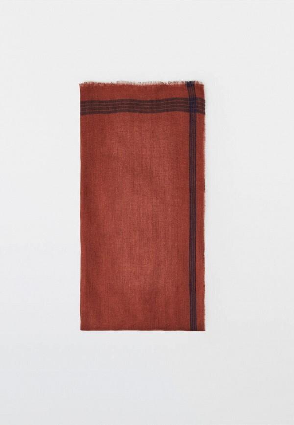 женский платок massimo dutti, красный