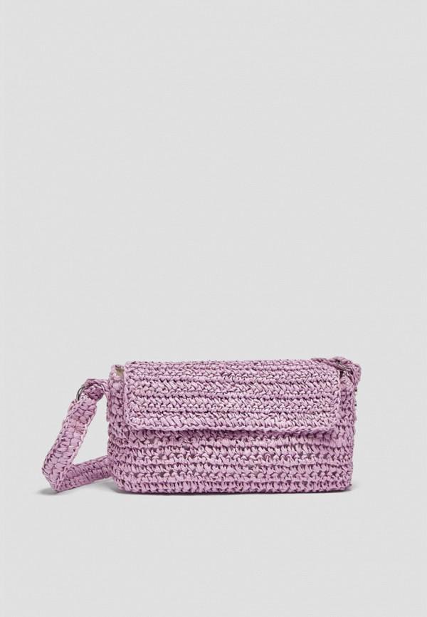 женская сумка с ручками pull & bear, фиолетовая