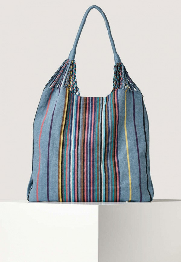 женская сумка-шоперы oysho, голубая
