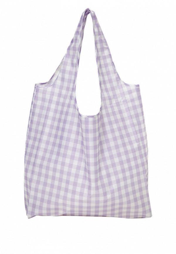 женская сумка-шоперы stradivarius, фиолетовая