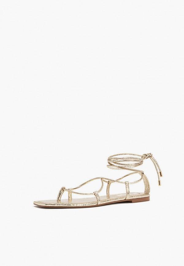 женские сандалии stradivarius, золотые