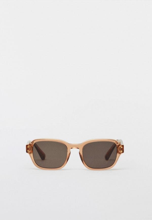 женские квадратные солнцезащитные очки massimo dutti, бежевые